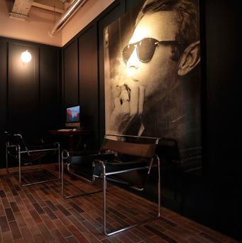 Undated handout photo of a Steve McQueen portrait hanging at the Bullitt hotel in Belfast: Photo Kelvin Boyes/Press Eye /PA Wire