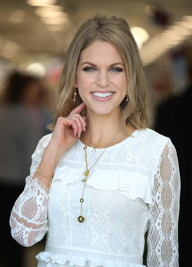 Amy Huberman, pictured at the launch of Newbridge Silverware's Luna Collection by Amy. Pic