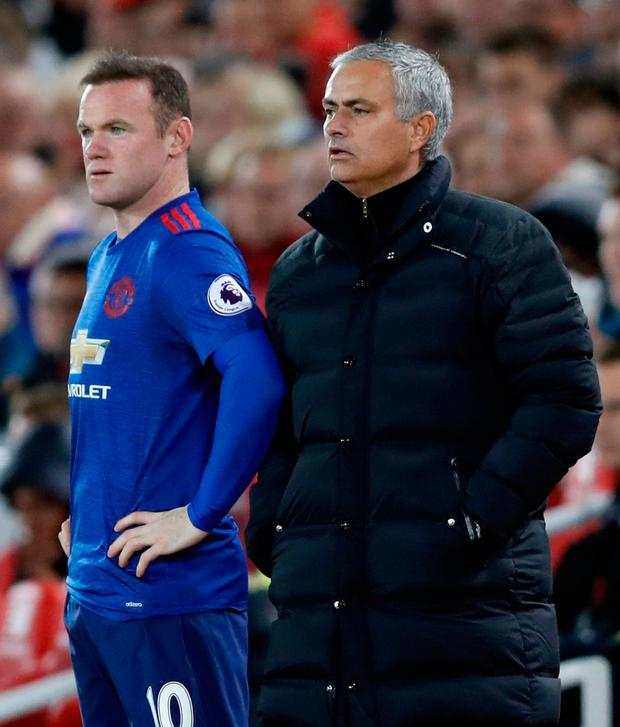 Jose Mourinho sent Wayne Rooney on as a second-half substitute Photo: Reuters / Carl Recine