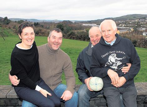 Anthony Foley with his wife Olive, father Brendan and friend Brian O'Brien. Photo: 'Limerick Leader'