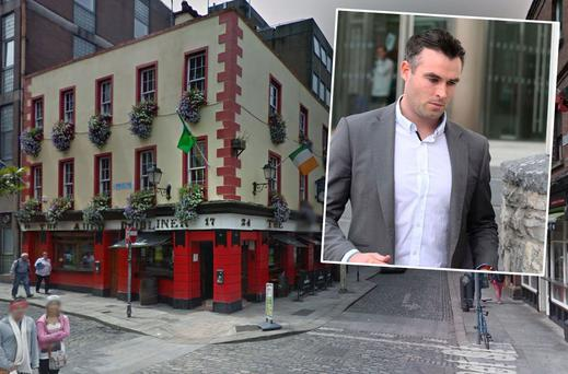 The Auld Dubliner pub in Temple Bar (Inset: Tyrone football star Cathal McCarron)