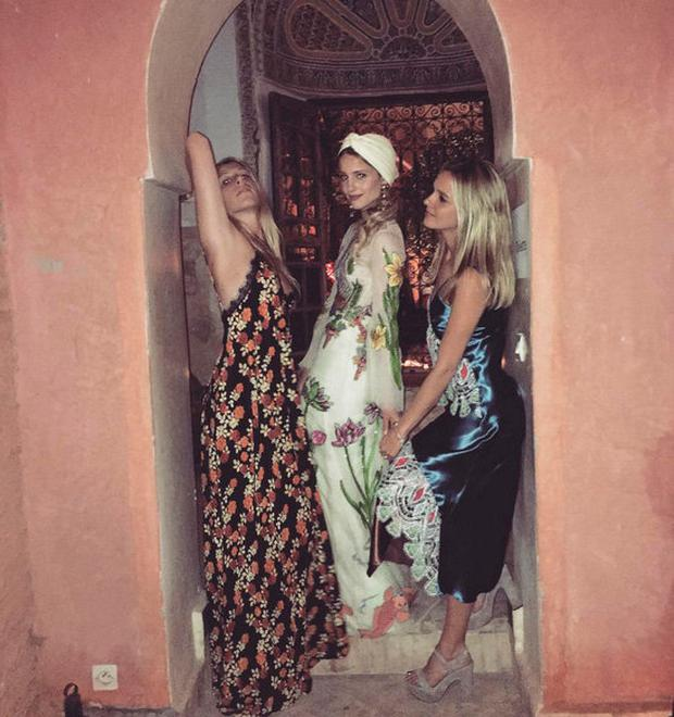 Guests at Dianna Agron's wedding. Picture: Instagram