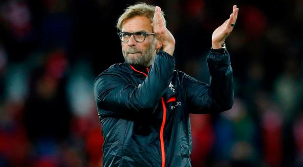 Liverpool manager Jurgen Klopp applauds fans after the game Reuters / Phil Noble