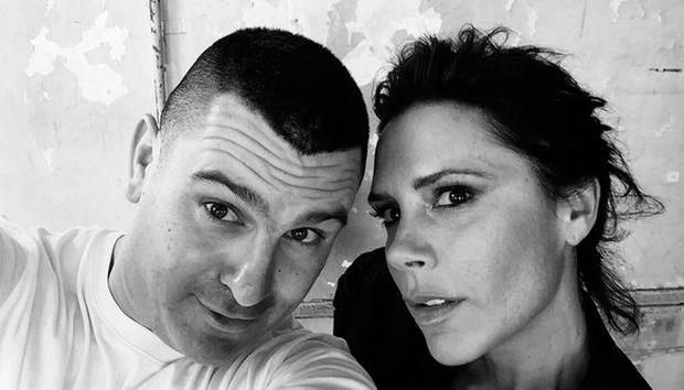 Victoria Beckham with Irish photographer Boo George