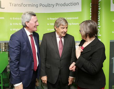 Attending the BHSL AGM 2016 were former ESB chief executive Padraig McManus; Former Kerry Group chief executive and BHSL chairman Denis Brosnan; former Supreme Court Judge Fidelma Macken. Irish agri-tech business BHSL today announced the appointment of Denis Brosnan as Chairman of the company.
