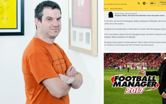 Miles Jacobson has added a new element of realism to this year's Football Manager Credit: SPORTS INTERACTIVE
