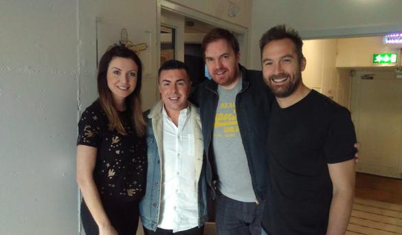 Alan McGarry-Love with the Breakfast Republic presnters on RTE 2fm