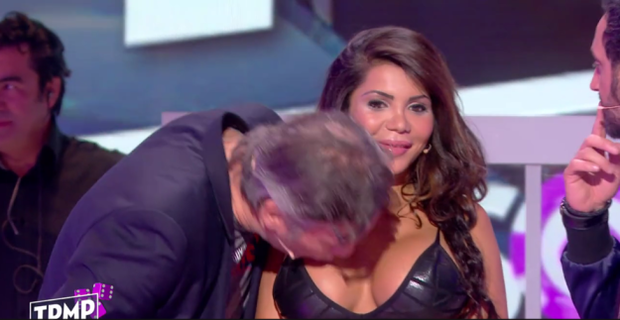 Jean Michel forces a kiss upon Soraya's breast