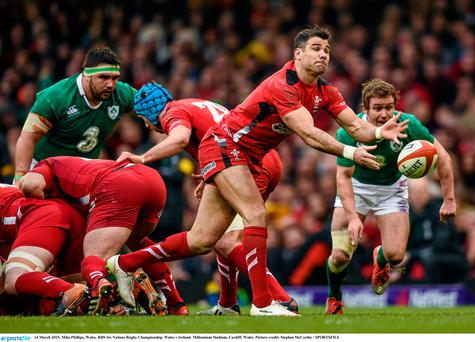Mike Phillips in action against Ireland