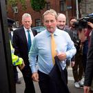 Taoiseach Enda Kenny arrives for a meeting with North Inner City residents earlier this year. Photo: Tony Gavin