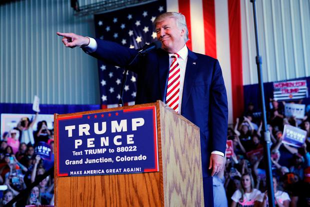 Republican presidential nominee Donald Trump holds a campaign rally in Grand Junction, Colorado. Photo: Reuters