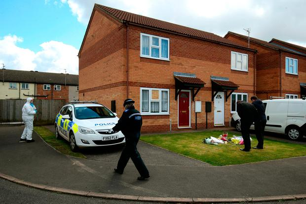 Scene outside a house in Spalding, Lincolnshire, where the bodies of 49-year-old Elizabeth Edwards and 13-year-old Katie were found, as a 15-year-old girl has been found guilty at Nottingham Crown Court of murdering Elizabeth and Katie, who were smothered and stabbed through the throat. Chris Radburn/PA Wire