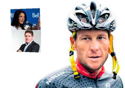 Paul Kimmage and (inset) Betsy Andreu and Paul Kimmage
