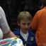 Reuben surprises Tim Peake with a space-themed birthday cake