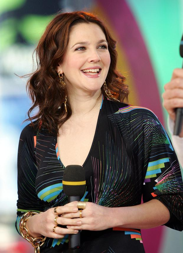 NEW YORK - APRIL 5:Actress Drew Barrymore makes an appearance on MTV's Total Request Live on April 5, 2005 in New York City. (Photo by Evan Agostini/Getty Images)