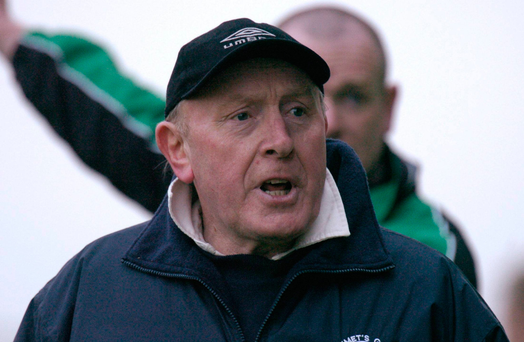 John Brennan during his time as Slaughtneil manager