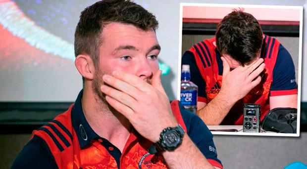 Peter O'Mahony was overcome by emotion when talking about his 'hero' Anthony Foley