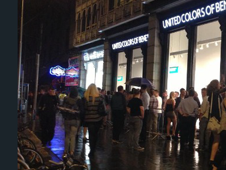 People queue outside Dandelion in Dublin