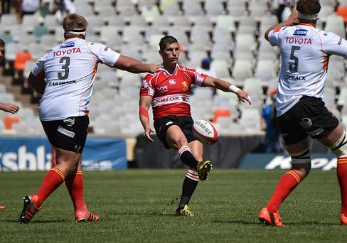 BLOEMFONTEIN, SOUTH AFRICA - SEPTEMBER 26: Marnitz Boshoff of the Lions during the Absa Currie Cup match between Toyota Free State and Xerox Golden Lions at Free State Stadium on September 26, 2015 in Bloemfontein, South Africa. (Photo by Charl Devenish/Gallo Images/Getty Images)