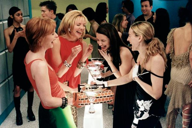 Sarah Jessica Parker as Carrie, with her fellow SATC cast members