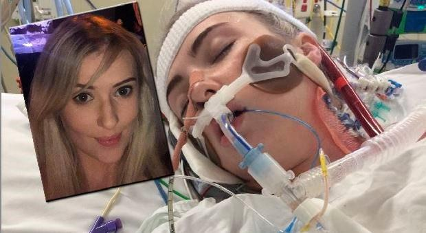 Lisa Talty (inset) from Co Clare was left on maximum life support after her flight to Sydney