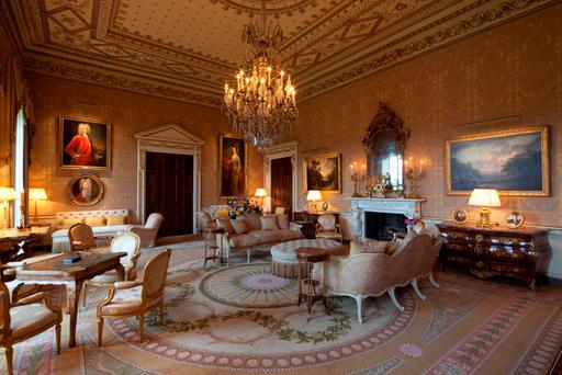 The sumptuous Gold Room at Ballyfin Demesne, near Abbeyleix