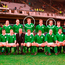 The Ireland team that Anthony Foley made his debut in, against England in 1995. Back row, from left: Terry Kingston, Maurice Field, Simon Geoghegan, David Corkery, Paddy Johns, Neil Francis, Mick Galwey, Anthony Foley, Niall Woods, Eric Elwood, Gary Halpin and Gabriel Fulcher. Front row, from left: Paul Burke, Conor O'Shea, Phil Danaher, Niall Hogan, Ken Reid, IRFU President, Brendan Mullin, Peter Clohessy, Keith Wood and Nick Popplewell Photo: Brendan Moran / SPORTSFILE