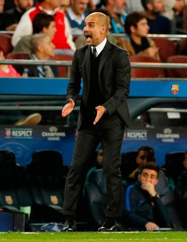 Manchester City manager Pep Guardiola Photo: Reuters / John Sibley