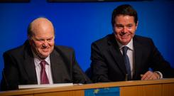 Michael Noonan and Paschal Donohoe hold the nation's purse strings Photo: Doug O'Connor