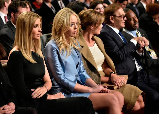 Ivanka Trump (L) and Tiffany Trump (2L) attend the third and final presidential debate between Republican presidential nominee Donald Trump and Democratic contender Hillary Clinton at the University of Nevada in Las Vegas. Photo: AFP/Getty Images