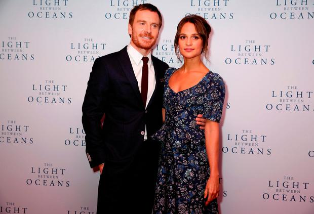 Alicia Vikander	and Michael Fassbender	attending the The Light Between Oceans UK Premiere, at Curzon Mayfair, London.