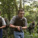Pedro Pascal and Boyd Holbrook as Javier Peña and Steve Murphy in Narcos