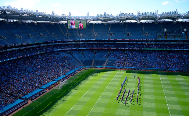 Empty seats at the Leinster final between Dublin and Westmeath