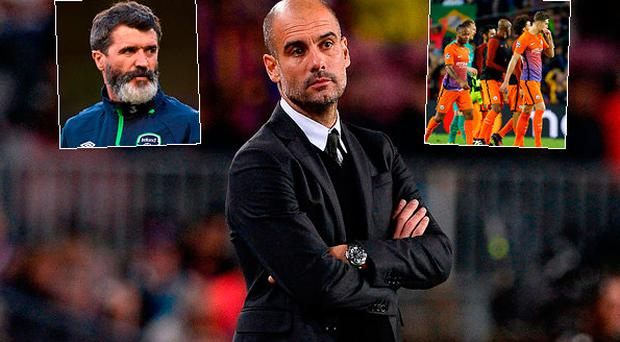 Roy Keane had some harsh words for Pep Guardiola and Man City