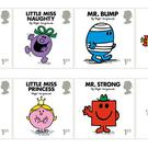 A selection of the Mr Men and Little Miss stamps. Photograph: Royal Mail/PA