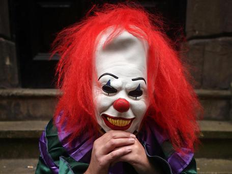 The clowns have been spotted in various cities across Denmark over the past week, as sightings increase PA