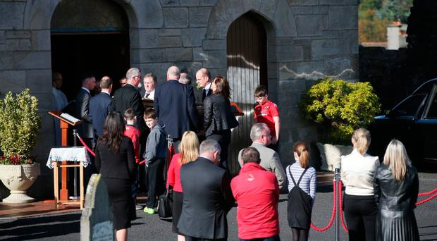 Anthony Foley's remains arrived at St Flannan's Church