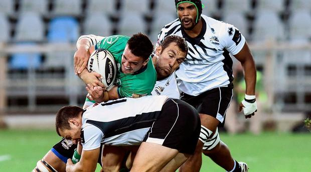 Cian Kelleher in action during the Guinness Pro 12 clash away to Zebre. Photo by Daniele Buffa/Sportsfile