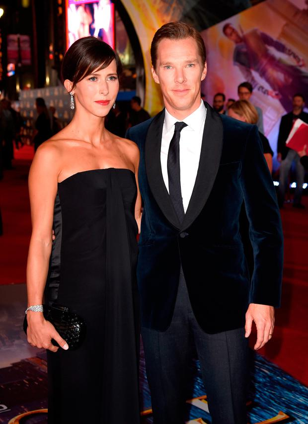 Sophie Hunter and actor Benedict Cumberbatch attend the premiere of Disney And Marvel Studios' 'Doctor Strange' on October 20, 2016 in Hollywood, California. (Photo by Kevin Winter/Getty Images)