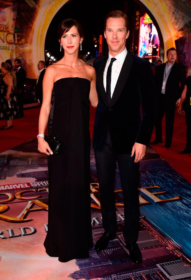 Sophie Hunter (L) and actor Benedict Cumberbatch attend The Los Angeles World Premiere of Marvel Studios