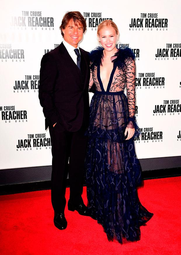 Tom Cruise and Danika Yarosh attending the Jack Reacher: Never Go Back European Premiere at Cineworld Leicester Square, London.