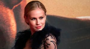 Danika Yarosh poses as she arrives for the European premiere of the film