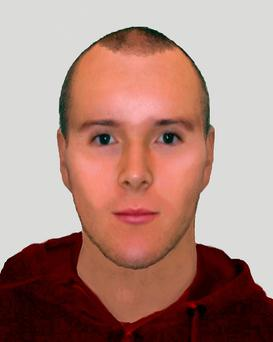 An e-fit of a man suspected of pulling down a woman's hijab in a racially motivated attack Credit: Metropolitan Police/PA Wire