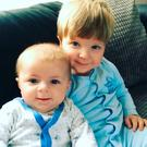 Four-month-old Archie Joe Darby and his 22-month-old brother Daniel Credit: Family handout/PA Wire