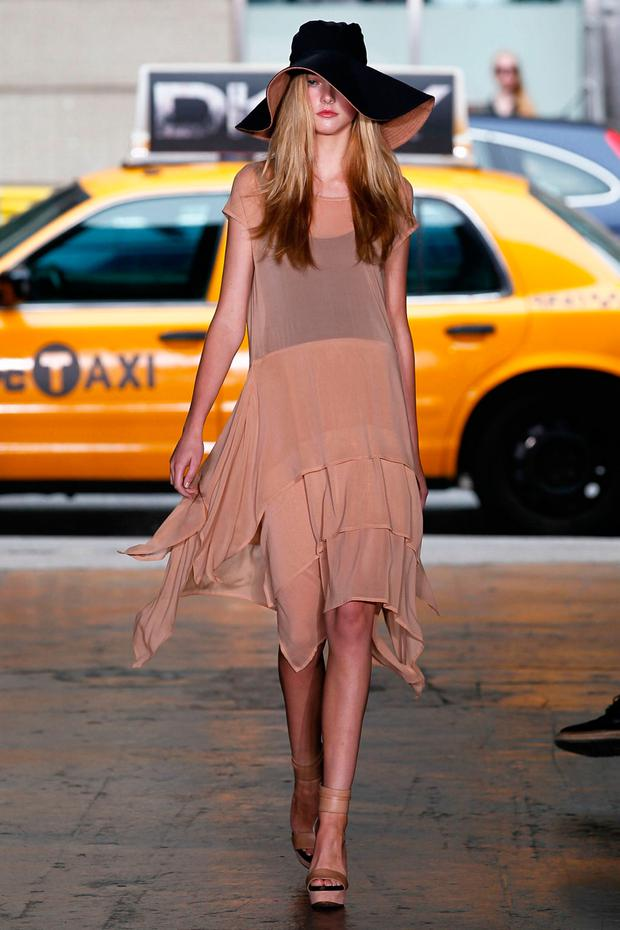 Danielle Winckworth for DKNY during New York Fashion Week in 2012
