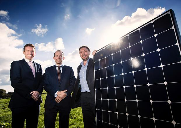 Pictured at the announcement is Dale Farm Group Operations Director, Chris McAlinden, Group Chief Executive of Dale Farm Nick Whelan and Chief Executive of CES Energy, Tom Marren.