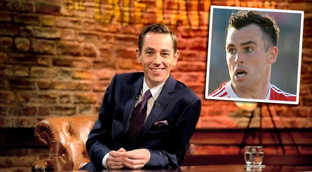 Ryan Tubridy, host of the late Late Show and inset Cathal McCarron