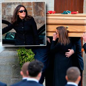The funeral of Anthony Foley and inset Olive Foley