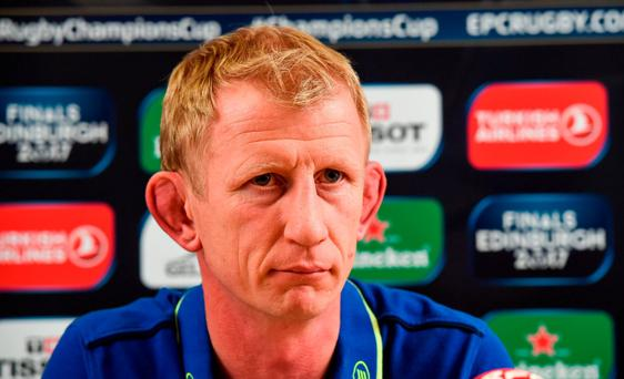 Leinster head coach Leo Cullen during a press conference at Leinster Rugby HQ in UCD, Belfield, Dublin. Photo by Matt Browne/Sportsfile