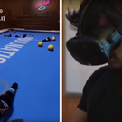 Ronnie O'Sullivan proving that product testing isn't all just fun and games